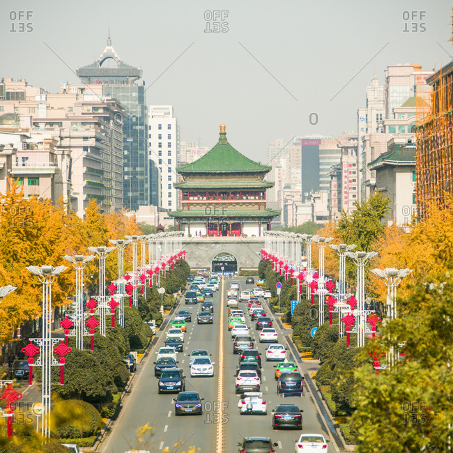 October 12, 2019: Xi 'an south street, China