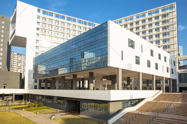 October 12, 2019: Shenzhen university building, China