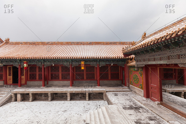 The Palace Museum in Beijing covered in snow