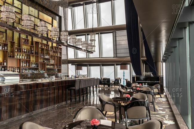 October 12, 2019: Shenzhen kingkey one hundred hotel coffee shop, China