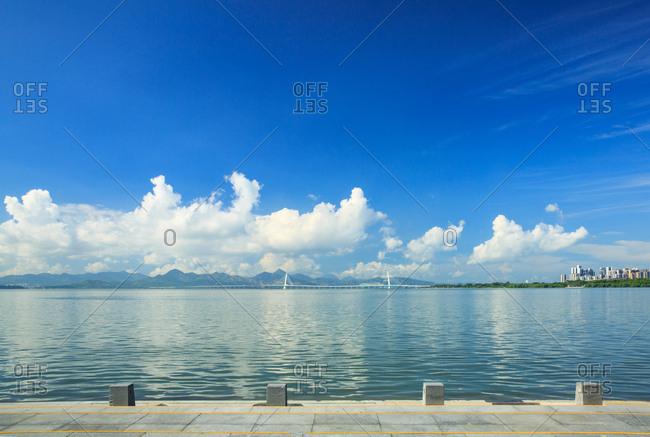 Shenzhen nanshan houhai area scenery