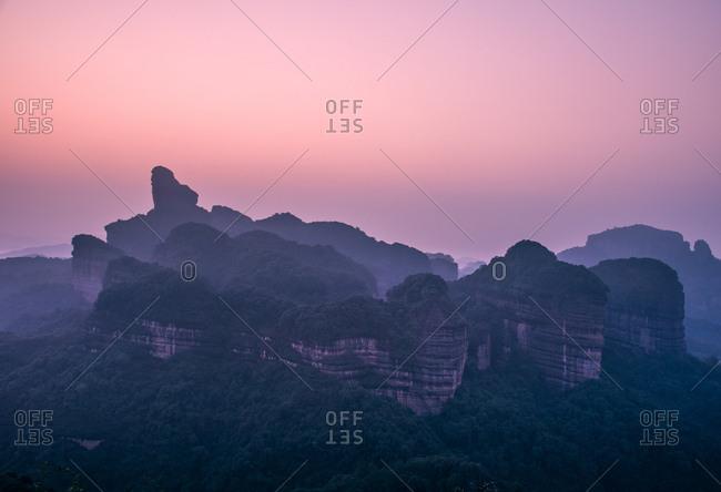 Shaoguan ren county danxia mountain abhorred cap peak