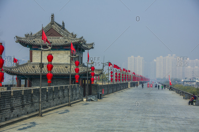 October 12, 2019: Xi 'an city wall, China