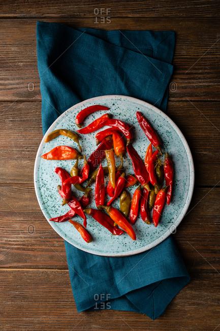 Pickled hot chili pepper - Offset