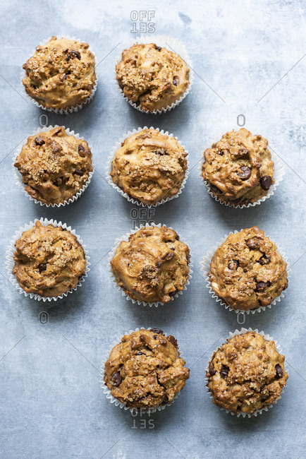 Healthy chocolate chips muffins