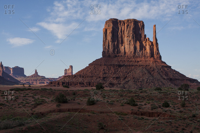 Sunset view at Monument Valley, a famous road trip stop in Arizona.