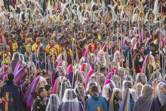 Brazil, Federal District - May 1, 2016: Massive meeting of devotees at Valley of the Dawn