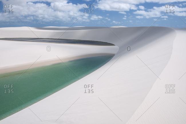 Dazzling landscape of dunes and lakes at Lencois Maranhenses