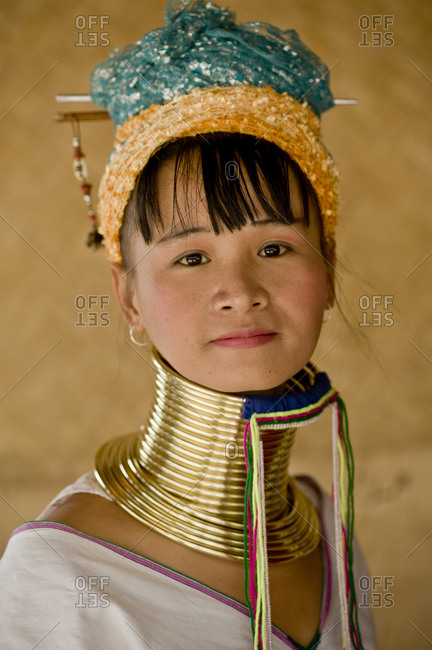 Thailand, Chiang Mai, Chiang Mai - May 20, 2011: Woman from Long Neck Karen tribe