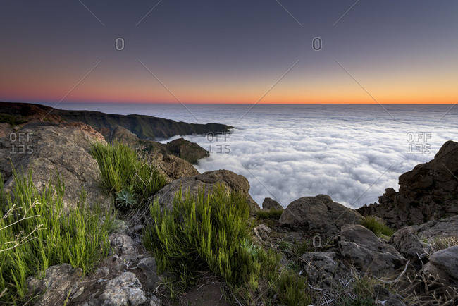 Sunrise with sea of mist, view from Pico de Arieiro, Funchal, Madeira