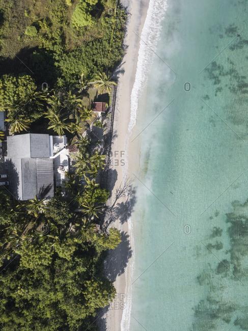 Aerial view of beach,Sumbawa,Indonesia