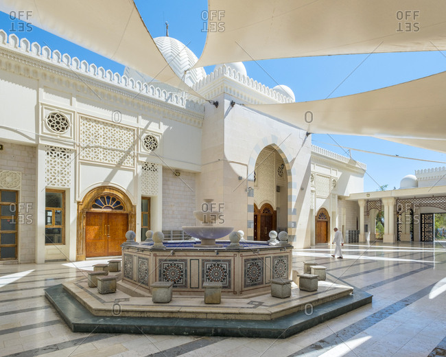 Jordan, aqaba governorate, aqaba - june 3, 2017: sharif hussein bin ali mosque, aqaba, jordan.