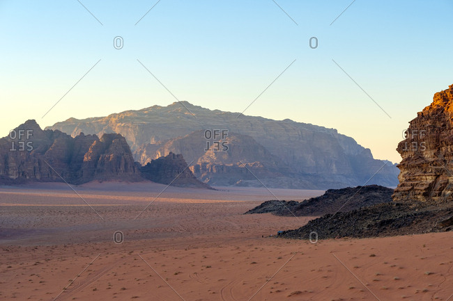 Wadi rum protected area, unesco world heritage site, jordan.