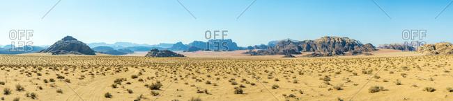 Wadi rum protected area, unesco world heritage site, jordan