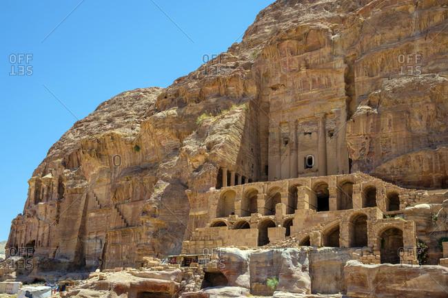 The urn tomb, petra archaeological park, jordan