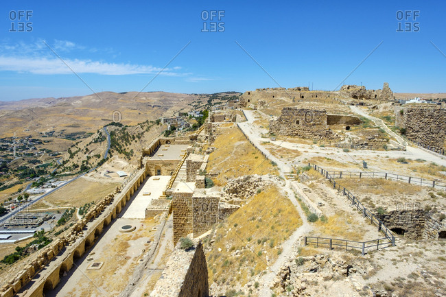 Kerak castle, 12th century crusader castle, karak, jordan
