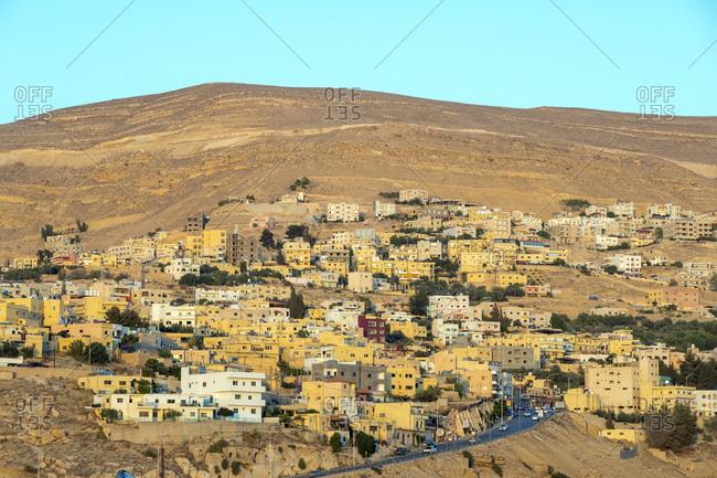 Buildings in town of wadi musa near petra, jordan