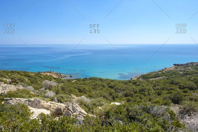 Secluded beach on the karpaz peninsula, rizokarpaso, cyprus