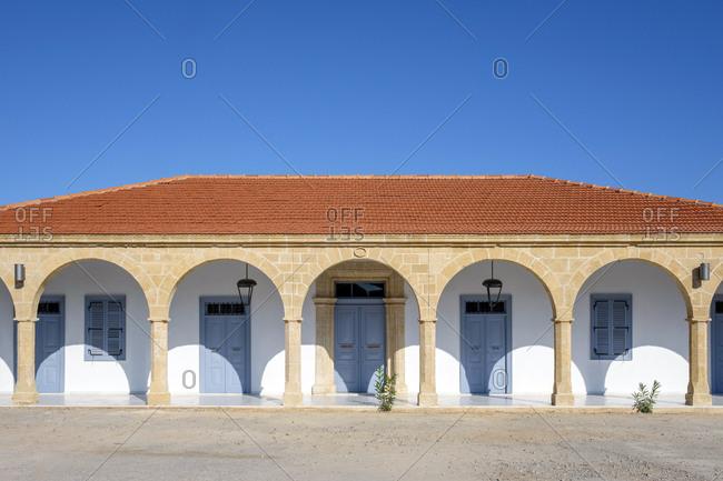 Apostolos andreas monastery on karpaz peninsula, rizokarpaso, cyprus