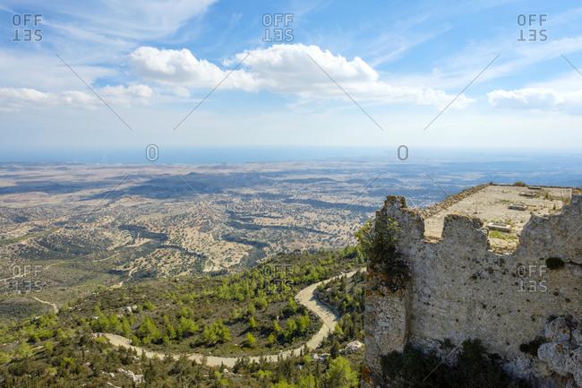 Kantara castle, crusader castle in kyrenia mountains, kaplica, cyprus