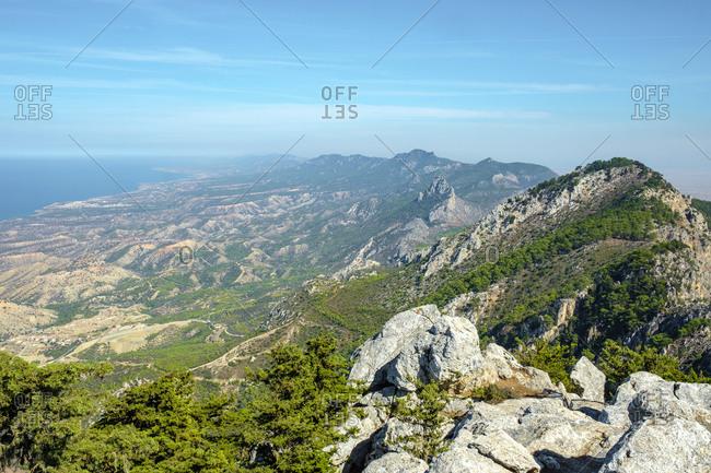 View from buffavento castle (buffavento kalesi), cyprus
