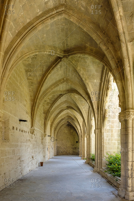 Cloister of bellapais abbey, cyprus