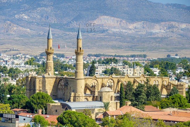 Northern nicosia, selimiye mosque (st. sophia cathedral), cyprus