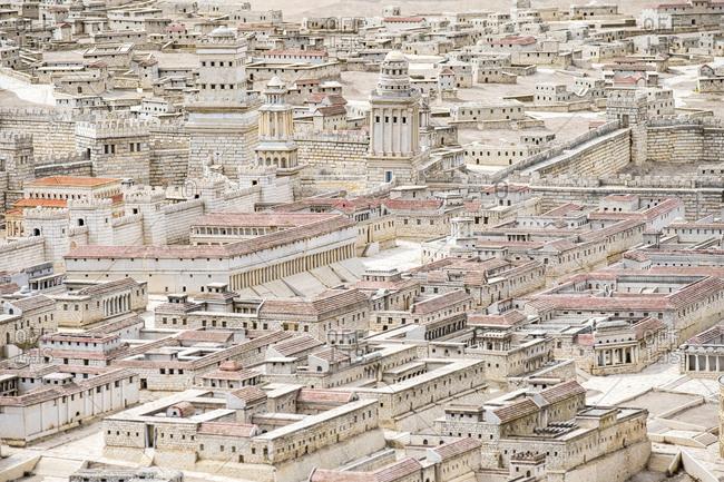 Holyland model of jerusalem model of jerusalem in second temple period