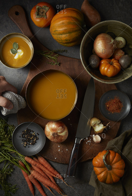 Fall cooking soup