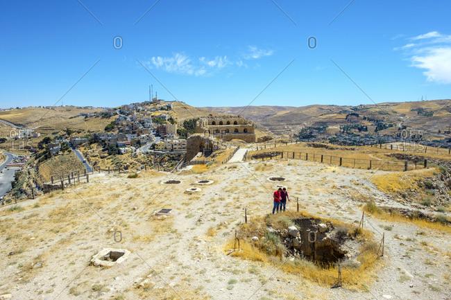Jordan, karak governorate, kerak - june 7, 2017: kerak castle, 12th century crusader castle, karak, jordan