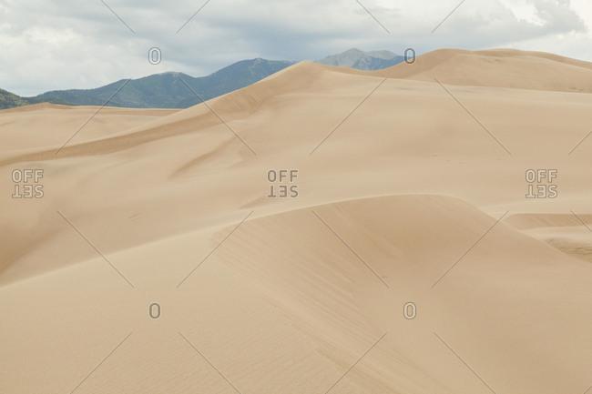 Curving sand dune ridges