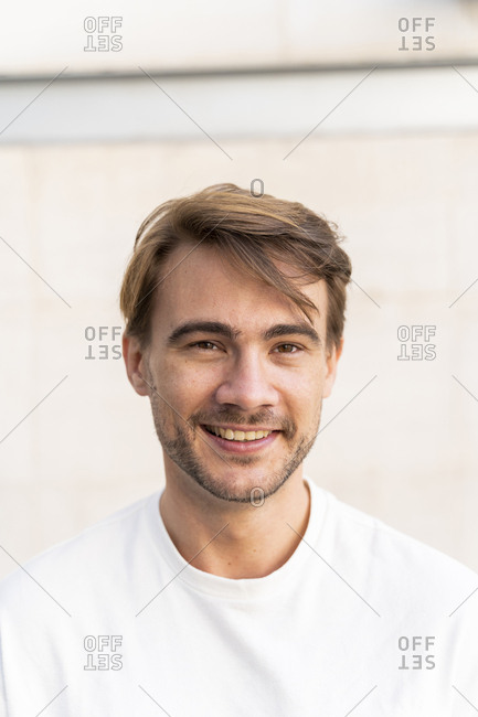 Portrait of smiling man with stubble