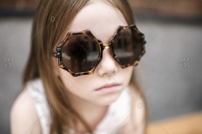 Portrait of a girl with sunglasses