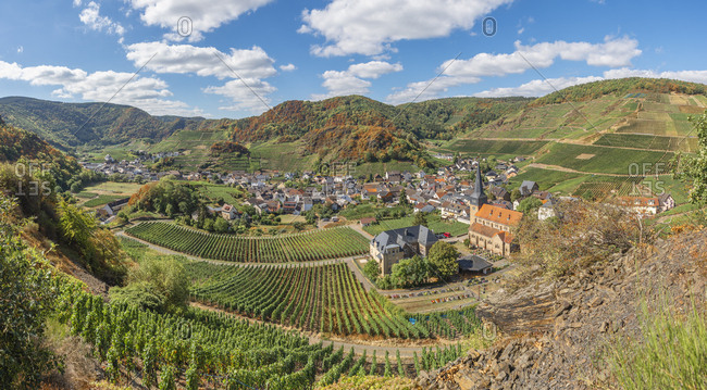Germany- Rhineland-Palatinate- Ahr Valley- Red Wine Hiking Trail- Mayschoss
