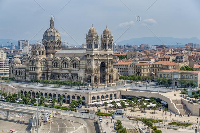 May 24, 2018: France- Provence-Alpes-Cote d'Azur- Marseille- Cathedrale La Major and Place de la Major