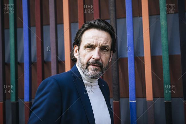 Portrait of bearded mature businessman