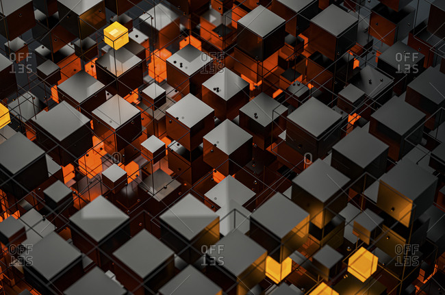 Abstract structures of illuminated cubes