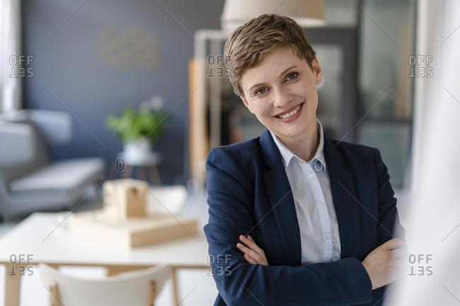 Portrait of confident businesswoman in office
