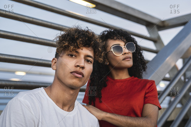 Portrait of a cool young couple in the city
