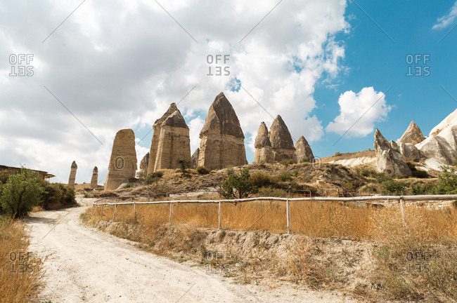 Love valley in Cappadocia region, Turkey