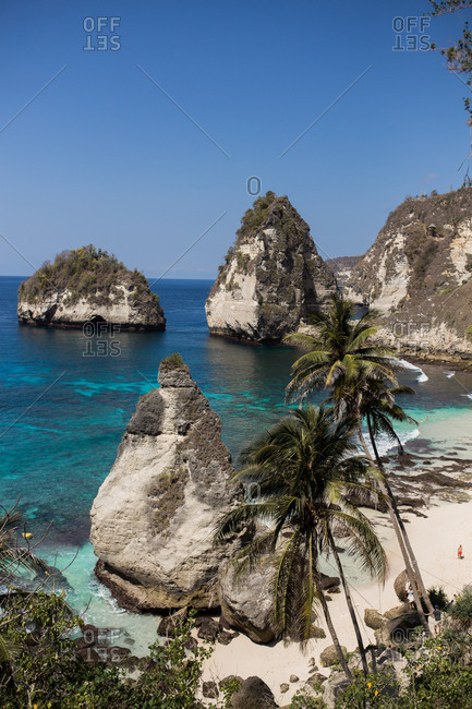 Rock formations on the coast of Bali