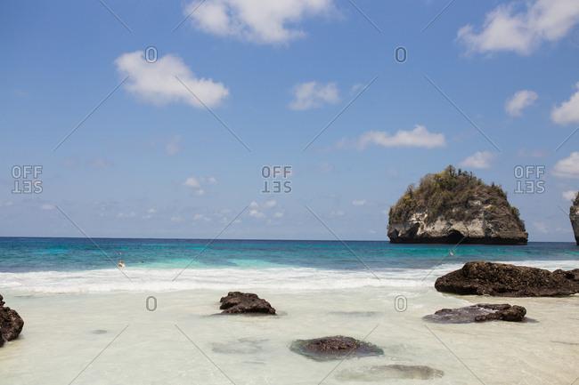 Beach on the island of Bali