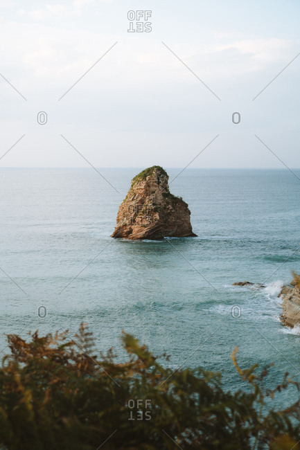Big rock formation on the south-west coast of France
