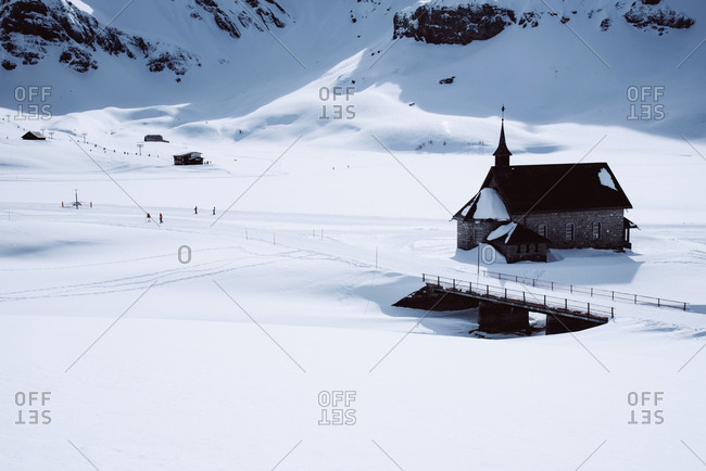 Winter landscape in the swiss mountains.