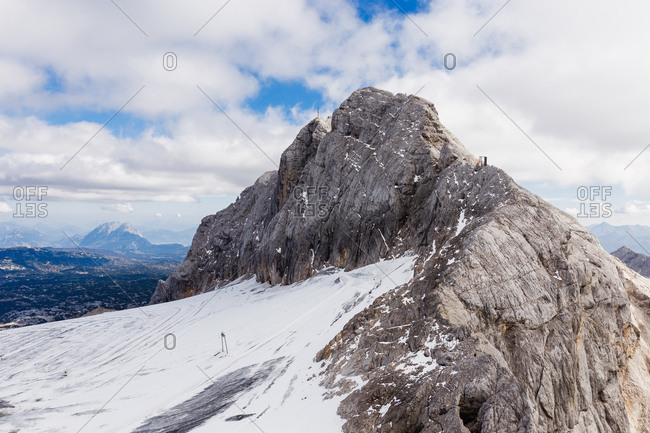 The Alpine Mountain is surrounded by the Dachstein Glacier