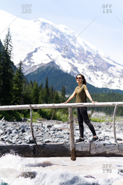 Hiker is dreaming about next adventure in washington