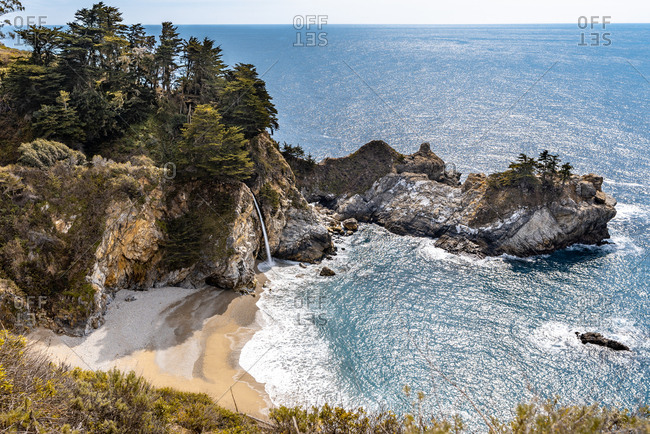Mcway Falls at Julia Pfeiffer Burns State Park on the Big Sur