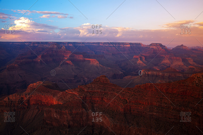 Grand Canyon at sunrise.