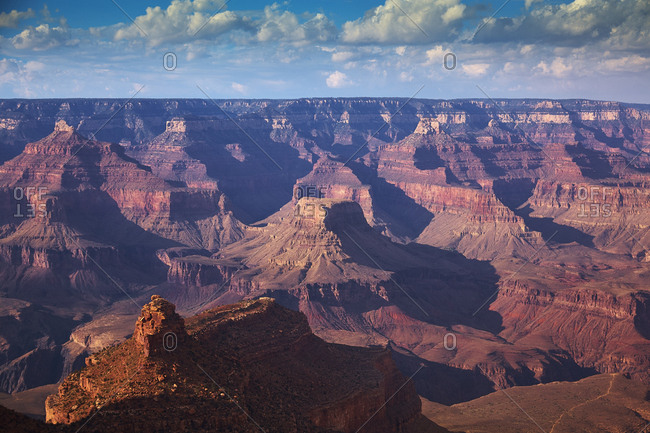 Views from the South Rim of the Grand Canyon one of the wonders of the