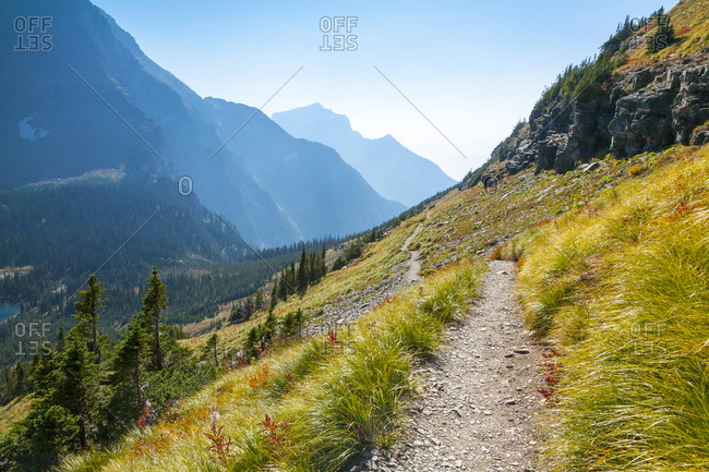 View along the trail to Hidden Lake, Glacier National Park, Montana